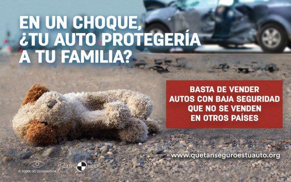 El Poder del Consumidor y Latin NCAP exigimos cambios en las normas técnicas que regulan a la industria automotriz y sus prácticas para proteger a las familias y usuarios de autos en México
